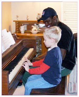 teaching music lessons